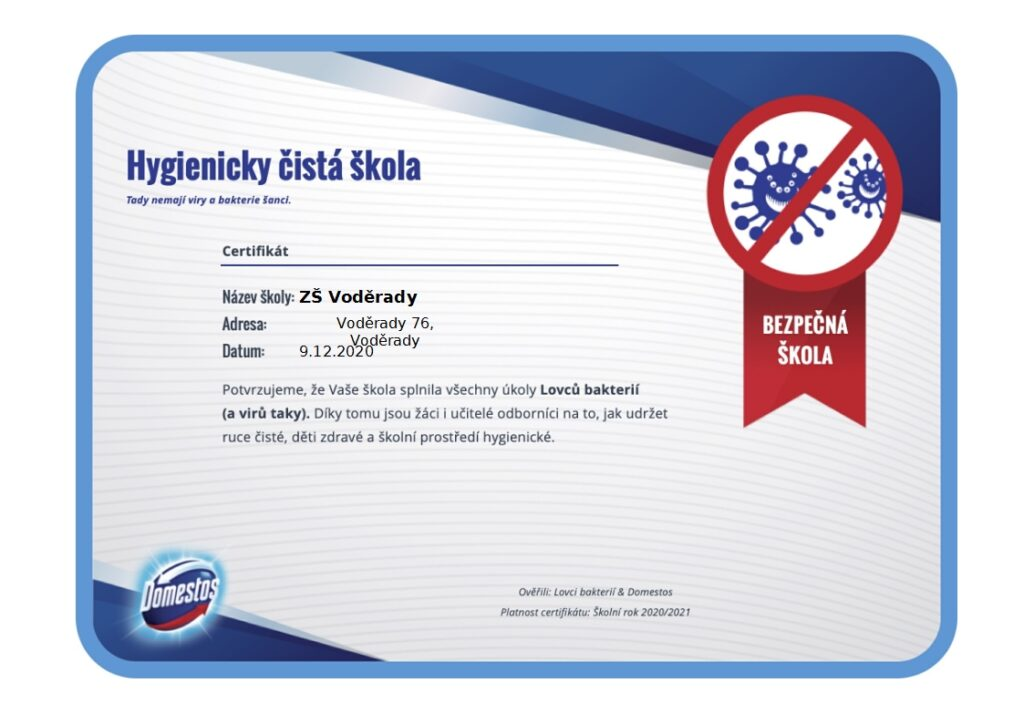 certifikat bezpecna skola