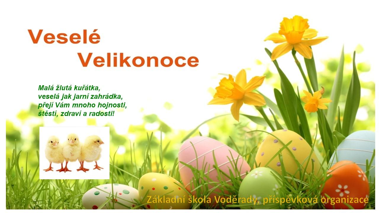 velikonoční přání ZŠ Voděrady
